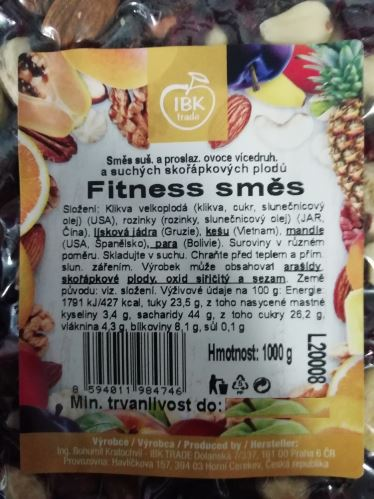 AWA superfoods Fitness zmes 1000g
