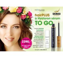 Hairplus rastové sérum 4,5 ml a hyaluronové sérum to GO
