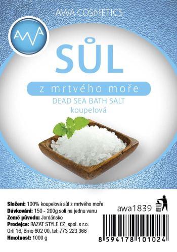 AWA cosmetics Soľ z Mŕtveho mora kúpeľová 1000g