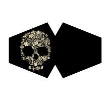 Rúško čierna so vzorom