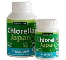 Health Link Chlorella Japan + kolagén 250 tbl.