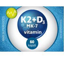 AWA superfoods vitamín K2 MK-7 + D3 60 tablet