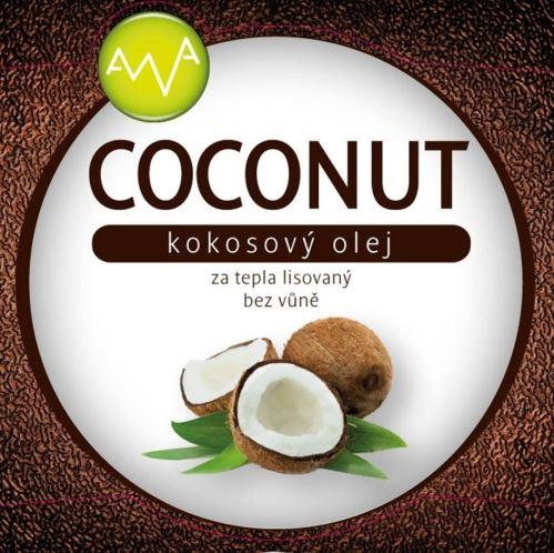 AWA superfoods Kokosový olej COCONUT 1000ml 3 kusy + darček