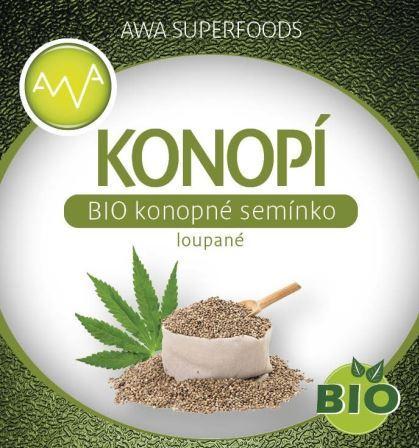 AWA superfoods BIO konopné semienko lúpané 500g
