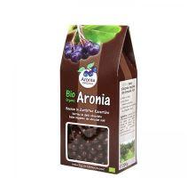 Arónie BIO (čierny žeriav, jarabina), sušené plody v horkej čokoláde 200 g