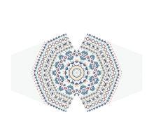 Rúško biela so vzorom mandala