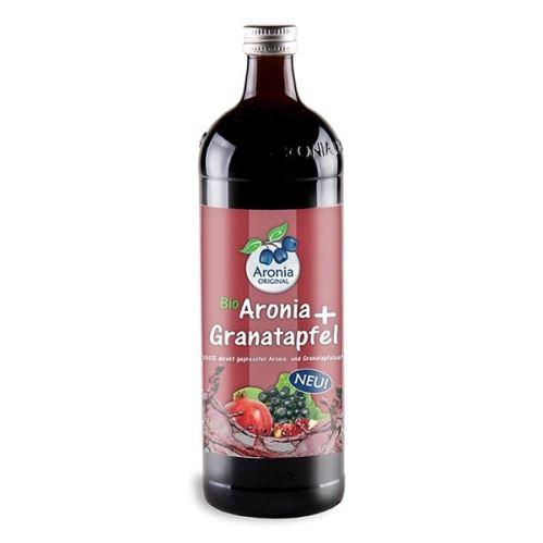 Arónie (čierny žeriav, jarabina) + Granátové jablko BIO, 100% čistá šťava 0,7 litra