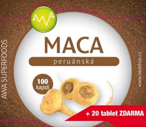 AWA superfoods Maca peruánska 100 tabliet