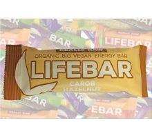 Karobová s lieskovými orieškami BIO RAW, Lifebar 47g